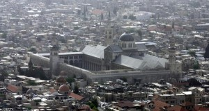 DAMASCUS, SYRIA - MAY 07:  An aerial photo shows the Omayyad Mosque and the old city taken on May 07, 2007 over the city of Damascus, Syria.  (Photo by Salah Malkawi/ Getty Images)