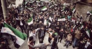 من مظاهرة في مدينة حلب/ 18 - 3 - 2016
