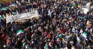 من مظاهرة إعزاز في ريف حلب الشمالي/ 18 - 3 - 2016