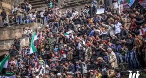 من مظاهرة بصرى الشام في ريف درعا/ 18 - 3 - 2016