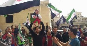 من مظاهرة اليوم الجمعة 25/3/2016 في كفر حمرة بريف حلب الشمالي