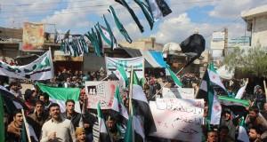 من مظاهرة سراقب في ريف إدلب/ 18 - 3 - 2016