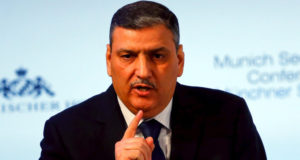Riad Hijab, chief coordinator of the main Western-backed Syrian opposition, attends a panel discussion at the Munich Security Conference in Munich