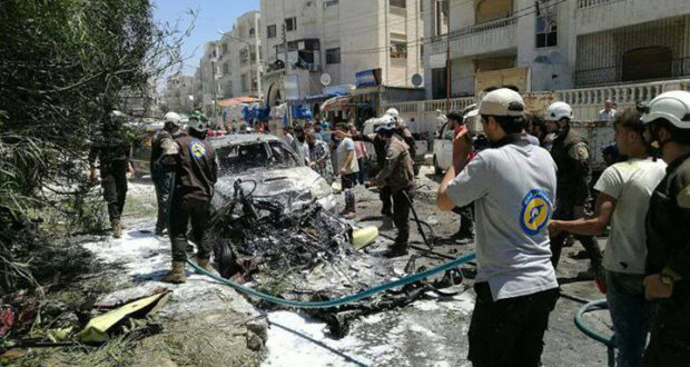 انفجار سيارة مفخخة في ادلب - خاص