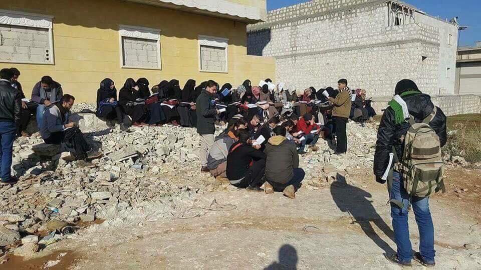 طلاب جامعة حلب الحرة يرفضون قرار حكومة الإنقاذ