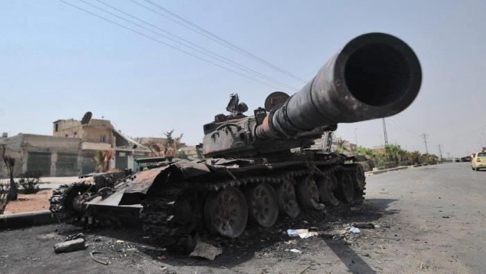 طائرة أمريكية تدمر دبابة للنظام شرقي سوريا ومقتل طاقمها